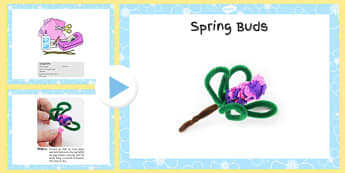 Spring Buds Craft Instructions PowerPoint - craft, powerpoint, spring, buds, instructions