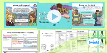 French: Going Shopping: Let's Go Shopping! Year 4 Lesson Pack 6 - french, languages, role play, speaking, listening