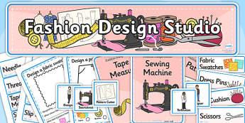 Fashion Design Studio Role Play Pack - fashion design studio, role play, fashion design studio role play, role play pack, resource pack, fashion design