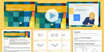 KS3 Half Term 1: Number and Place Value - Lesson 8 (Estimation) Lesson Pack - rounding, significant figures, approximation, decimal place, Mastery, worded questions, challenge, f