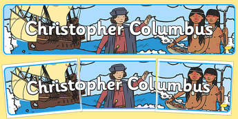 Christopher Columbus Display Banner - christopher columbus, display, banner, display banner, display header, themed banner, class banner, banner display
