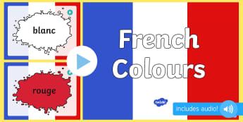French Colours PowerPoint - visual displays, colour, visual, aid
