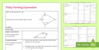GCSE Algebra Problem-Solving Activity Sheets - algebra, quadratic, worksheet, tangent, graph, circle, revision, review, exam technique, break-down,