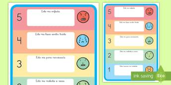 Póster DIN A4: Identificación de emociones - emociones, sentimientos, autoestima, auto estima, póster, DIN A4, estrategias, identificar, identif