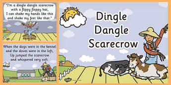 Dingle Dangle Scarecrow - dingle dangle scarecrow, nursery rhyme