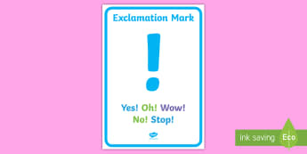 Simple Exclamation mark Display Poster  - Simple Question Mark Display Poster - simple question mark, display poster, display, poster, questio