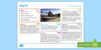 Vikings: Church KS2 Exploration Sheet