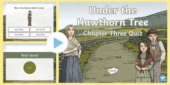 Chapter Three Quiz PowerPoint to Support Teaching On Under the Hawthorn Tree - ROI - Resources to Support The Teaching Of Under the Hawthorn Tree, Under the Hawthorn Tree, Third C