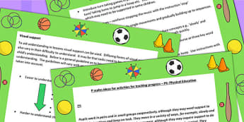 P Scales Ideas for Activities for Tracking Progress P6 PE - PE