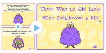 There Was an Old Lady Who Swallowed a Fly Song PowerPoint - song
