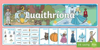 Luaithríona Resource Pack Gaeilge - Luaithríona, Cinderella, Gaeilge,Irish, poster, banner, playdough mat