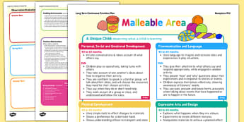 Malleable Area Continuous Provision Plan Posters Reception FS2