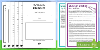 KS1 Summer Fun in the Holidays: Days Out: Visiting a Museum Activity Pack - day trip, visit, family, culture, history, worksheets