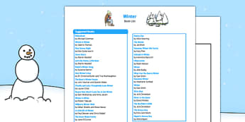 Winter Book List - EYFS, winter, Early years, book list, book, list