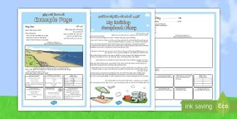 Holiday Memory Scrapbook Diary Arabic/English - Holiday Scrapbook Diary - holiday, scrapbook, diary, scrap book, book, EAL, Arabic.,Arabic-translati