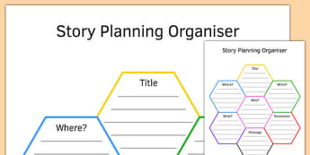 KS3 Story Planning Honeycomb Graphic Organiser - ks3, honeycomb, story planning, graphic organiser