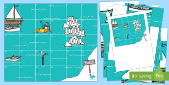 Journey to the South Pole Bee-Bot Mat - Lost and Found, Oliver Jeffers, polar regions, bee-bot, ict, utw, it, technology, bee bot