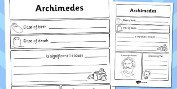 Archimedes Significant Individual Writing Frame - archimedes
