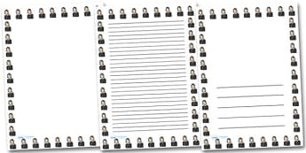 Florence Nightingale Portrait Page Borders- Portrait Page Borders - Page border, border, writing template, writing aid, writing frame, a4 border, template, templates, landscape