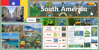 South America Display Pack - South America, Display, Continents, Brazil, Chile, Reo, Amazon, Rainforest, Peru, Patagonia, Ecuador