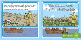 The Sower and the Seeds Parable - parable, sower, seeds, Jesus