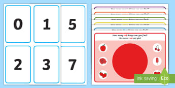 We're Going on a Colour Hunt Counting Activity Mats English/Romanian - Mathematics, number, counting, numerals, quantity, match, colour, sort, EYFS, EAL
