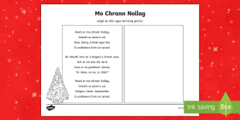 Mo Chrann Nollag Read and Draw Activity Sheet - dán, léigh, tarraing, Christmas, Nollag, Poetry, Poem, gaeilge