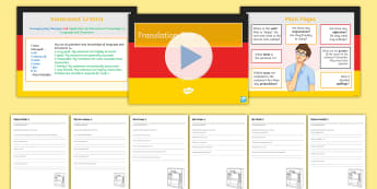 German KS3 Translation Practice Pack 3 Activity Sheets-German - Writing, Translation, Grammar Practice, KS3, Skills,German
