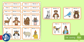 I Have Who Has BSL Animals Sign Game - deaf awareness week, sign language week, bsl week, deaf education, deaf learning, inclusive games, m