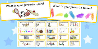 Favourites Question Cards - favourites, question cards, cards