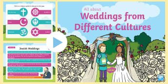EYFS All about Weddings From Different Cultures PowerPoint - marriage, religions, ceremony, celebration, bride and groom