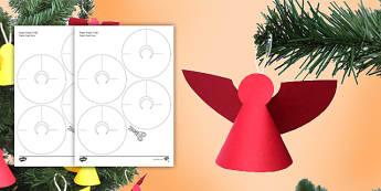Paper Angels Paper Craft English/Afrikaans - December, celebrate, create, make, cut, Desember, kreatief, EAL