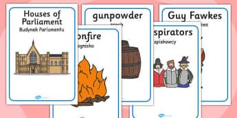The Gunpowder Plot Display Posters Polish Translation - polish