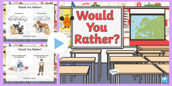 Would You Rather? Quiz PowerPoint Game - end of year, end of term, end of school, australia, quiz, game,Australia