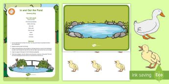 In and Out the Pond Early Concepts Sensory Bag - early concepts, ducks, ducklings, sensory play, in, out
