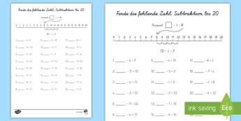 Mathematik Rechnen Primary Resources - 1./2. Klasse