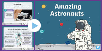 Amazing Astronauts PowerPoint - Back to Earth with a bump, twinkl fiction, space, english, science, Ks1