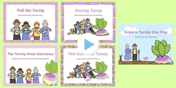 The Enormous Turnip Songs and Rhymes PowerPoints Pack
