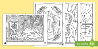 Communion Mindfulness Colouring Pages - Confession & First Communion Resources,Irish