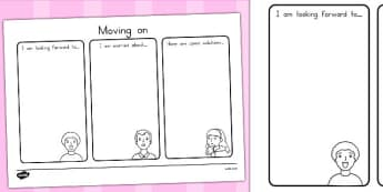 Moving On Worksheet - moving on, transition, ourselves, age