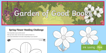 Garden of Good Books  Display Pack - Reading Challenges,Australia, Garden of Good Books Display Pack, reading areas, reading, book corner