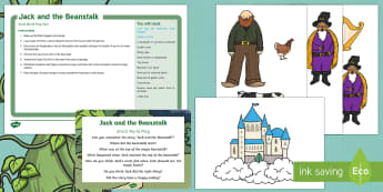 Jack and the Beanstalk Small World Play Idea and Printable Resource Pack - EYFS, Jack and the Beanstalk, traditional tales, magic beans, roleplay, role-play, imaginary play, c