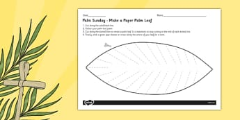 Palm Leaf Template - christianity, religion, christian, palm sunday, easter,