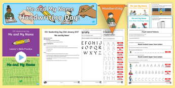 KS1 Me and My Name Handwriting Day Lesson Teaching Pack - KS1, Me and My Name, handwriting, practise, writing, letters, formation, lower case, upper case, cap
