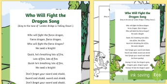 Who Will Fight the Dragon Song - knights, kings, queens, princesses, princes, royalty, medieval, action songs, singing time, nursery