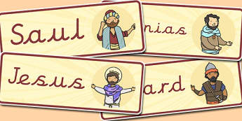 The Conversion of Saul Word Cards - visual, aids, literacy, words, road to damascus