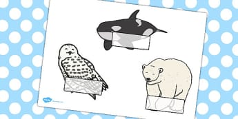 Editable Self Registration Labels (Arctic Animals) - Self registration, register, animal, arctic, winter, editable, labels, registration, child name label, printable labels
