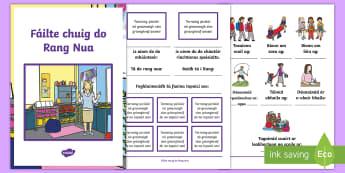 Leabhrán Ranga: Fáilte chuig do Rang Nua - Classroom Management, Bainistiú Ranga, Bainistíocht Ranga, Ar Ais Ar Scoil, Back To School, Tús N