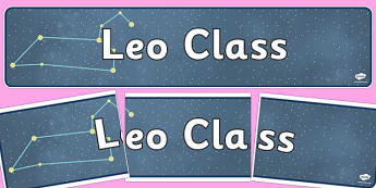 Leo Class Constellation Themed Display Banner - display banner