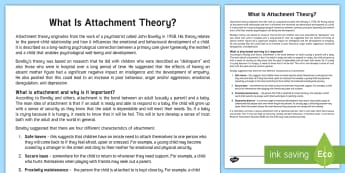 What Is Attachment Theory? Adult Guidance - attachment theory, attachment, attachment disorder